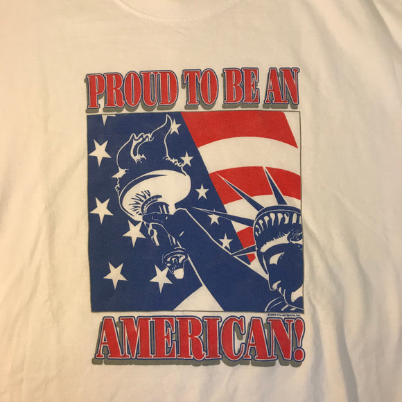 """Life is Good Men/'s Short Sleeve /""""Proud American/"""" T-Shirts Lot of 2 Large New"""